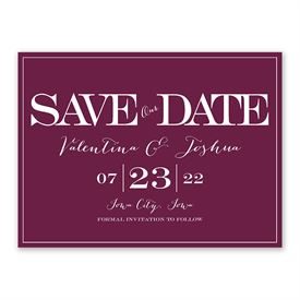 Our Big Date - Save The Date