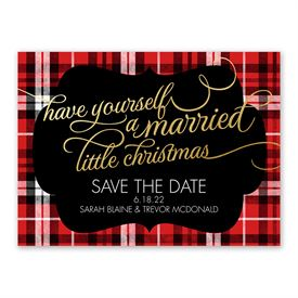 Christmas Plaid - Holiday Card Save the Date