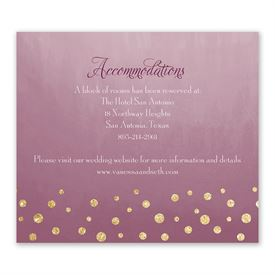 Gold Dust - Faux Glitter - Information Card