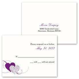 Close at Heart - Invitation with Free Response Card