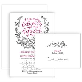 Romantic Wedding Invitations: 