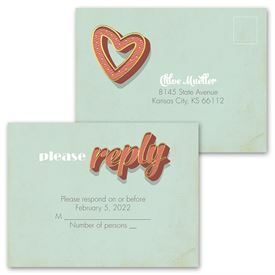 Vegas Wedding - Invitation with Free Response Postcard