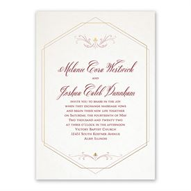 Modern Elegance Invitation with Free Response Postcard