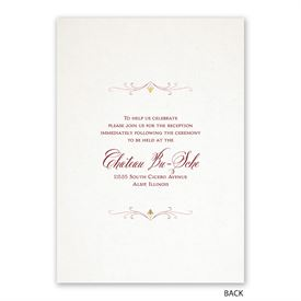 Modern Elegance - Invitation with Free Response Postcard