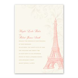 Eiffel Tower - Invitation with Free Response Postcard