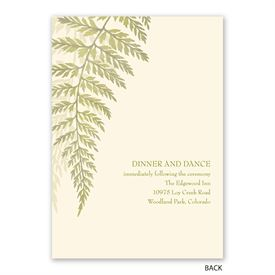 Woodland Fern - Invitation with Free Response Postcard
