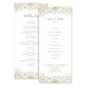 Wedding Programs: Winter Sparkle Wedding Program
