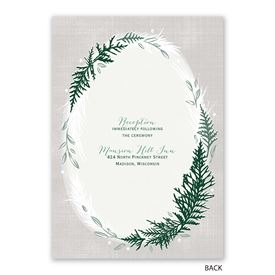 Sweet Evergreens - Invitation with Free Response Postcard