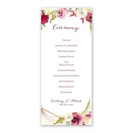 Geo Rose Wedding Program