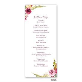 Geo Rose - Wedding Program