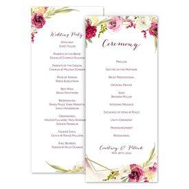 Wedding Programs: Geo Rose Wedding Program