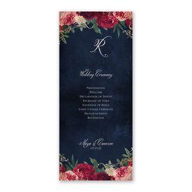 Florals and Flourishes Wedding Program