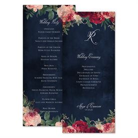 Wedding Programs: Florals and Flourishes Wedding Program