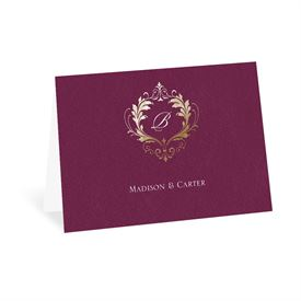 Wedding Thank You Cards: Royal Monogram Thank You Card