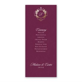 Royal Monogram Wedding Program
