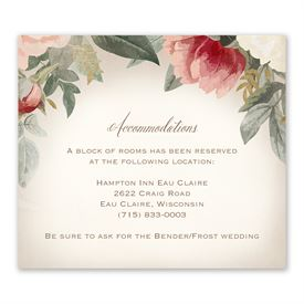Blush Floral - Information Card