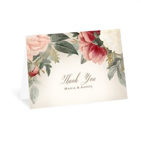 Blush Floral - Thank You Card