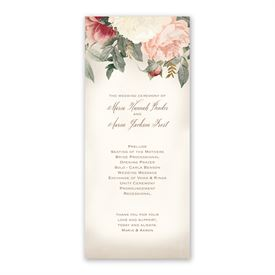 Blush Floral - Wedding Program