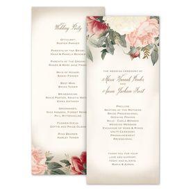 Wedding Programs: Blush Floral Wedding Program