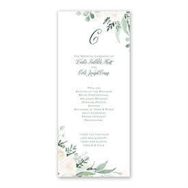 Painted Garden - Wedding Program