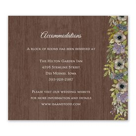 Floral Garland - Information Card