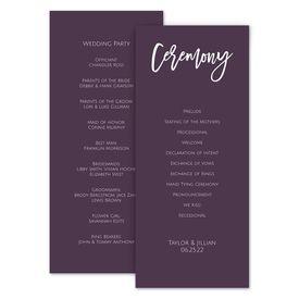 simple wedding program customizable elegant classic wedding rustic