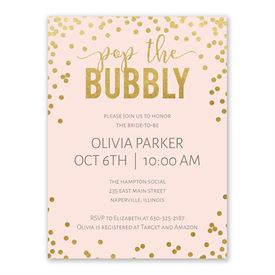 cheap bridal shower invitations bubbly bridal shower invitation