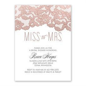 cheap bridal shower invitations rose gold lace bridal shower invitation