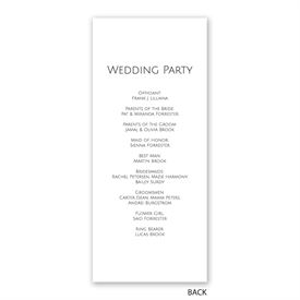 Gold Faux Foil - Wedding Program