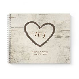 Birch Tree Carvings Guest Book