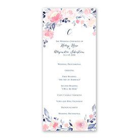 Blooms Abound - Wedding Program