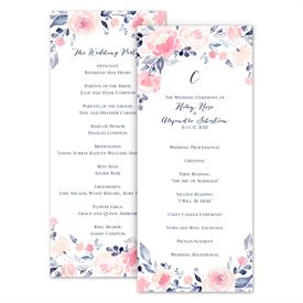 Wedding Programs: Blooms Abound Wedding Program