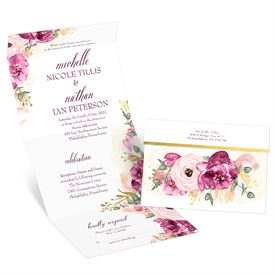 Garden Romance Seal and Send Invitation