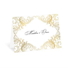 Gold Flourish - Thank You Card