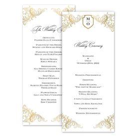 Wedding Programs: Gold Flourish Wedding Program