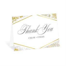 Gold Marble - Thank You Card