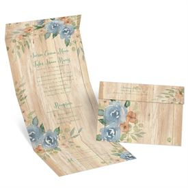 Country Blooms - Seal and Send Invitation