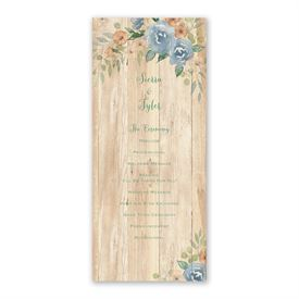 Country Blooms Wedding Program