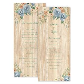 Wedding Programs: Country Blooms Wedding Program