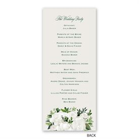 Lush Gardenias - Wedding Program