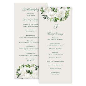 Wedding Programs: Lush Gardenias Wedding Program