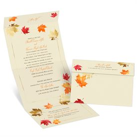 Falling Leaves Seal and Send Invitation