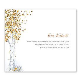 Autumn Birch - Information Card