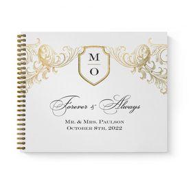 Wedding Guest Books: Gold Flourish Guest Book