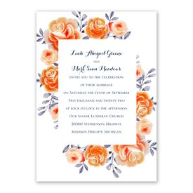 Bountiful Blooms Invitation with Free Response Postcard