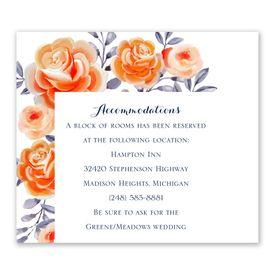 Wedding Reception Cards: Bountiful Blooms Information Card