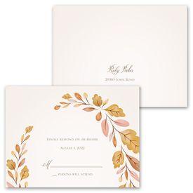 Golden Autumn - Invitation with Free Response Postcard