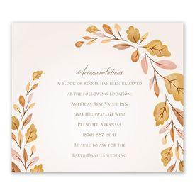 Wedding Reception Cards: Golden Autumn Information Card