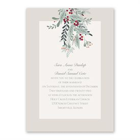 Under The Mistletoe - Invitation with Free Response Postcard