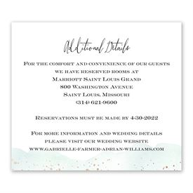 Watercolor Burst - Fern - Information Card